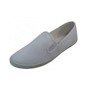 Women's White Color Slip on Canvas Shoes (Size 6-11)