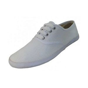Women's White Canvas Shoes - Sizes 5-10